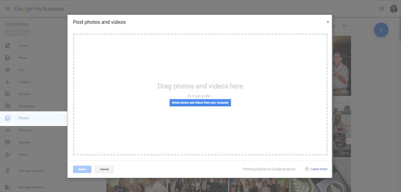 Google My Business Photo Upload
